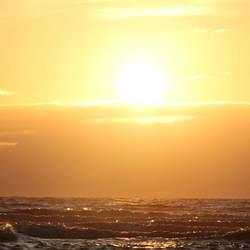 Ondergaande zon..