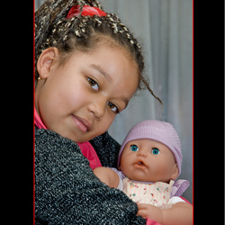 Felicia en baby Annabel