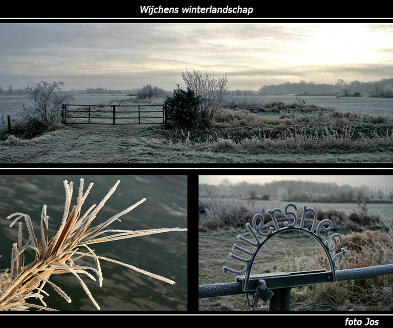 Winterlandschap - Vanmorgen wat het erg koud maar wel mooi vriesweer. Dus even in de buurt gaan fietsen om wat foto's te maken. Ieder bedankt voo