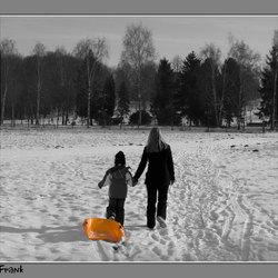 Glijden in de sneeuw.....