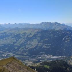 uitzicht panorama op 2500 meter hoog