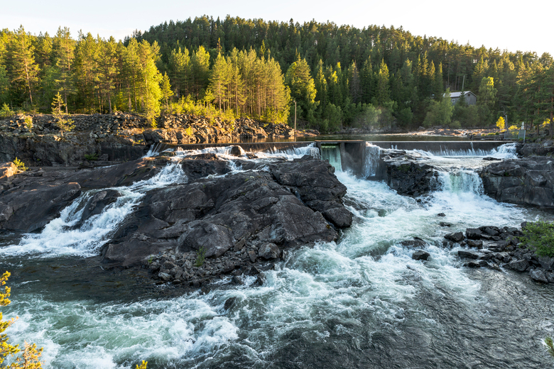 noorwegen waterval Leira 1 - waterval in Noorwegen bij Leira 1