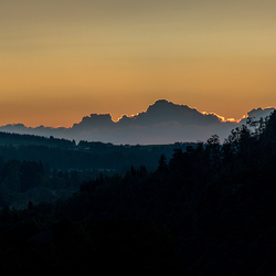 Zonsondergang Jungholz