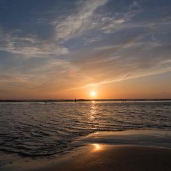 La playa...at sunset.....