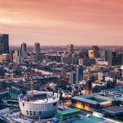 View from Erasmus MC on Rotterdam