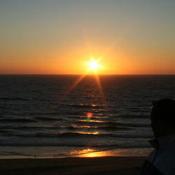 Rust bij zonsondergang