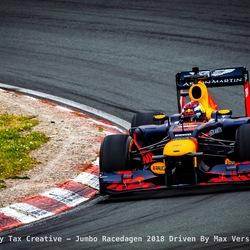 Max Verstappen in de Tarzanbocht - Circuit Zandvoort