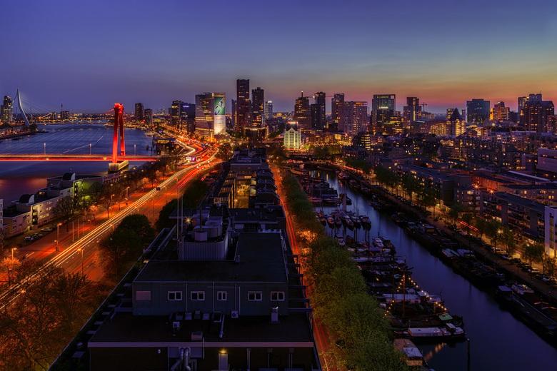 Skyline van Rotterdam - Prachtig uitzicht over Rotterdam