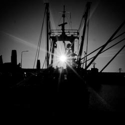 zon en schip