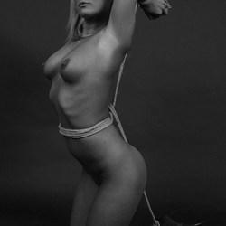 kneeled woman