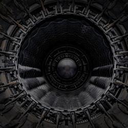 Binnen in de straalmotor