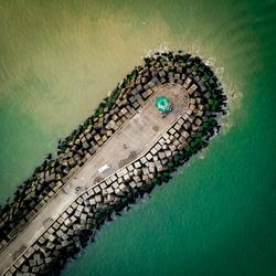De groene haventoren van Scheveningen