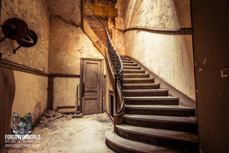 Stairs to the Director - Je kent het wel..... die lange weg die je zult moeten bewandelen voor je tussentijdse evaluatie. De trap op.. het kantoor in.