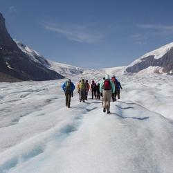 Exporing Athabasca Glacier