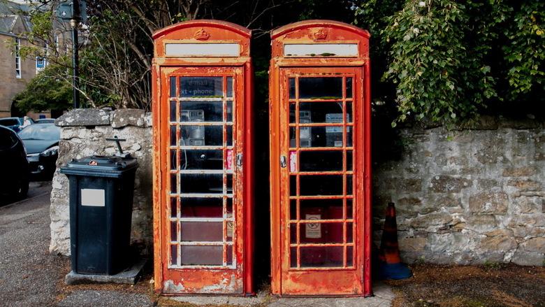 Schotland -02- - Ze staan al bij de vuilnisbak, maar ze werken nog wel!