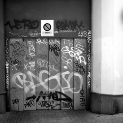 Ironische grafitti
