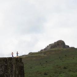 Beklimming van Haytor op Dartmoor