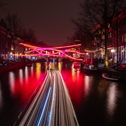 Amsterdam light festival.