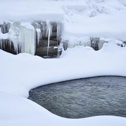 Bevroren rivier.