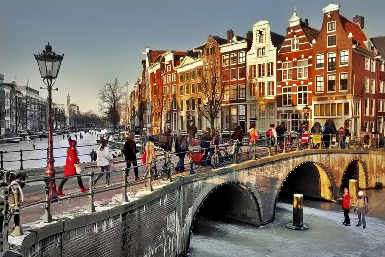 IJspret op de grachten - Amsterdam ~ Keizergracht