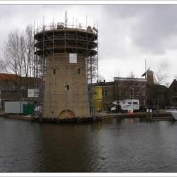 Schiedams nieuwste molen in aanbouw