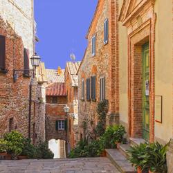 Straatje in Toscane