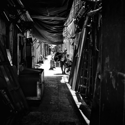 in a alley