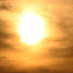 Warme zomerzon