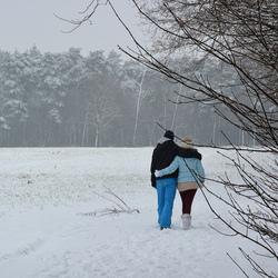 Romantiek in de sneeuw.