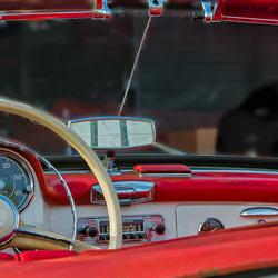 Bewerking: Mercedes-190SL roadster- dashboard (1 van 1)