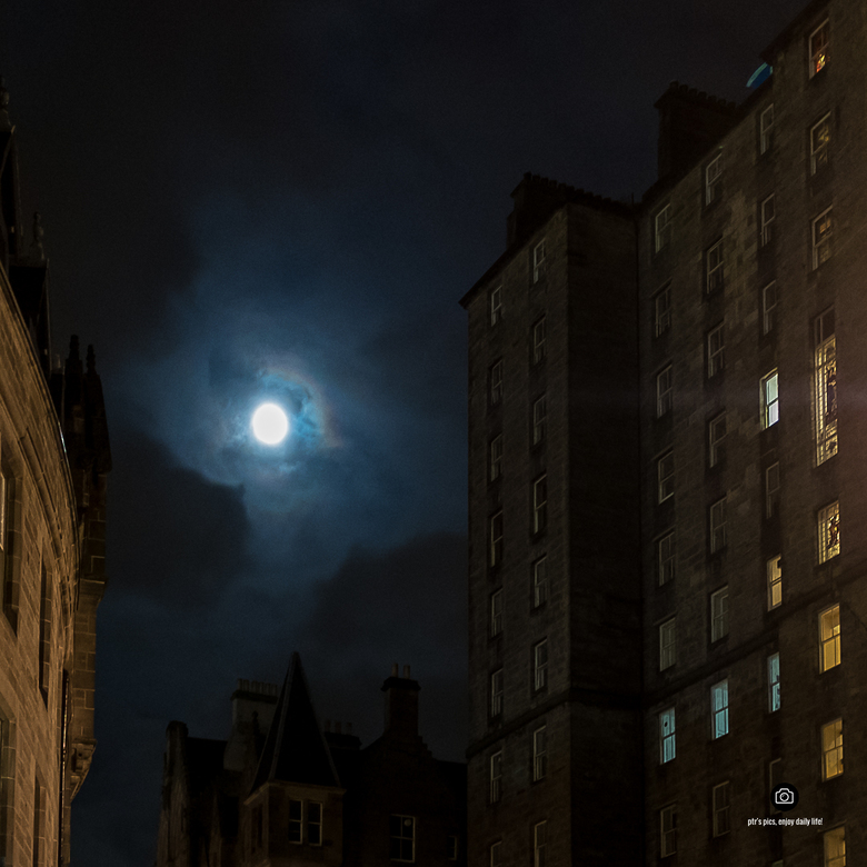 moon over Edinburgh -