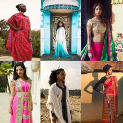 Serie kleding uit verschillende culturen