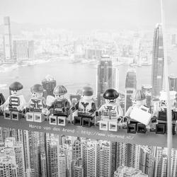 Lunch atop a skyscraper Lego edition