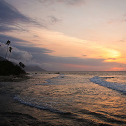 Zonsondergang in Venezuela