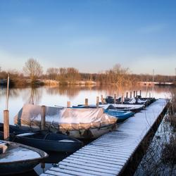Winter Aan de Oude Durme (Belgie)