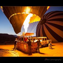 Heating the hotair balloon