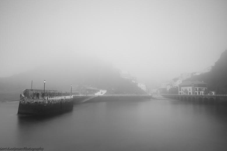 Cudillero in de mist