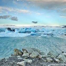 Jokulsarlon Glacier lagoon.