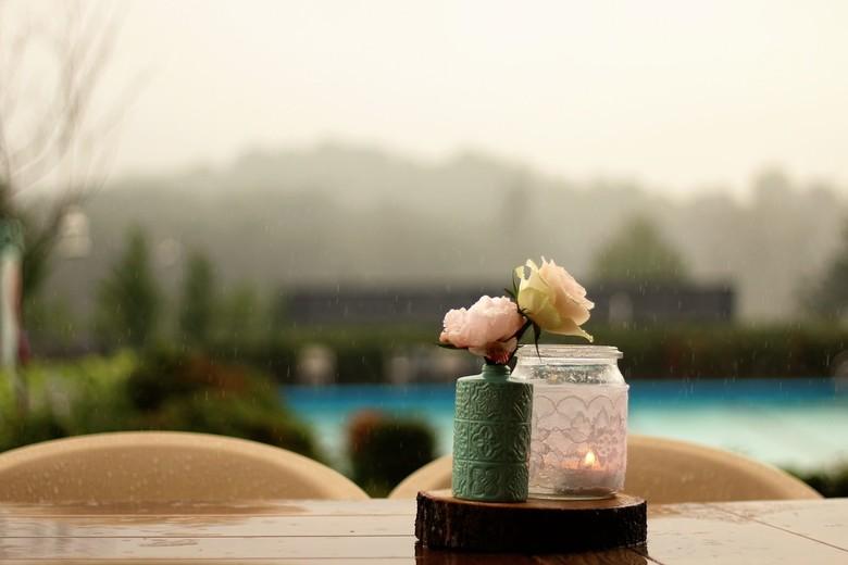 Romance on a rainy day..
