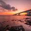 zonsondergang zeelandbrug
