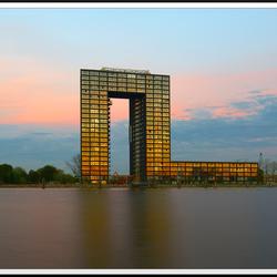 Groningen, Tasmantoren: gouden moment reflectie