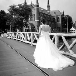 Walking to the church
