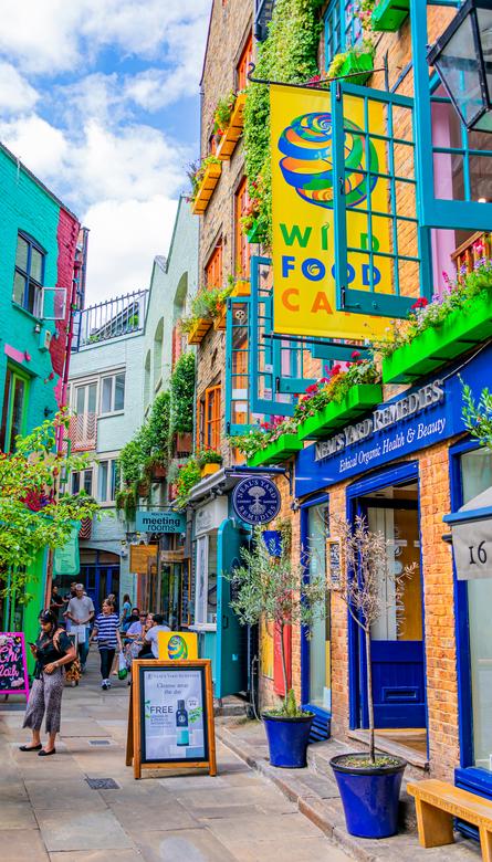 Neil's Yard - Het kleurrijkste straatje van Londen.