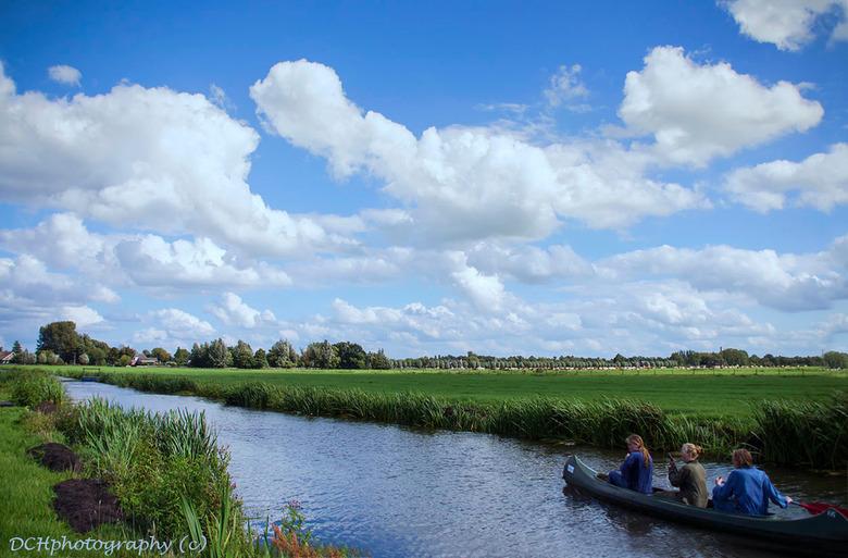 Het groene hart - Even wat anders. Een typisch Hollands tafereel tegen een fraaie wolkendek. <br /> <br /> Iedereen bedankt voor de fijne reacties o