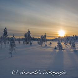 Zonsopkomst Fins-Lapland