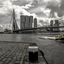 Watertaxi en de Erasmusbrug