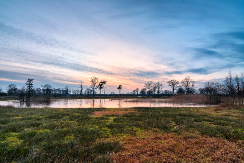 Empese-Tondense Heide - Empese en Tondense Heide bij zonsondergang 31-01-2021