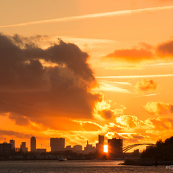 Sunset Rotterdam City