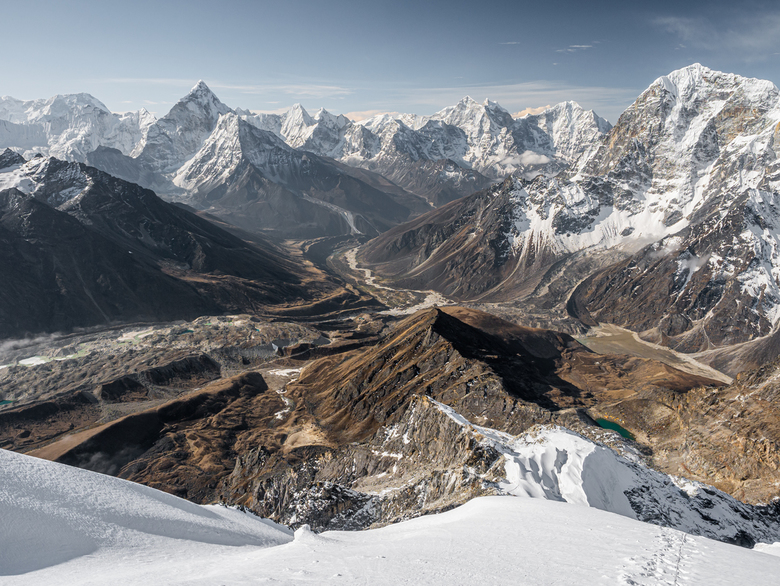 Lobuche East - Na de beklimming van Lobuche East krijg je zichten zoals deze cadeau.