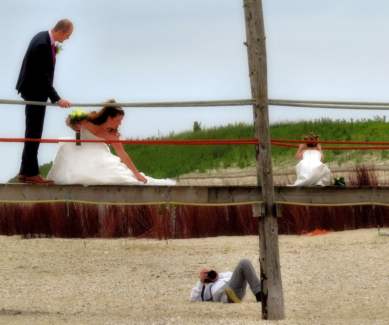 Ieder z'n vak - Trouwfotoshoot op Texel; in de duinen en op het strand<br />